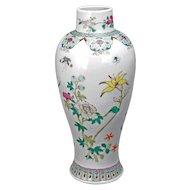 Chinese Polychrome Porcelain Baluster Vase Republic Period