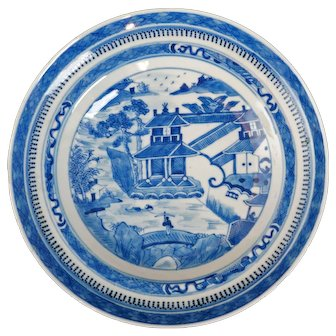 Chinese Porcelain Nanking Deep Plate Early 19th Century