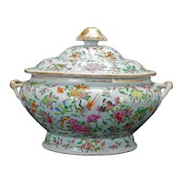 Very Large Chinese Export 1000 Butterfly Tureen Late 19th C
