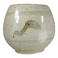 Provincial Chinese Small Crackle Porcelain Food Pot 19th Century