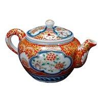 Japanese Porcelain Imari Child's Teapot 19th Century