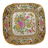 Chinese 1000 Butterfly Square Serving Dish Late 19th C