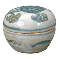 Small Chinese Ming Porcelain Box 15th Century