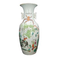Large Chinese Polychrome Palace Vase Republic Period