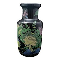 Chinese Famille Noire Kangxi-Style Porcelain Vase Late Qing