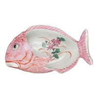 Chinese Export Famille Rose Fish Dish Early 20th C