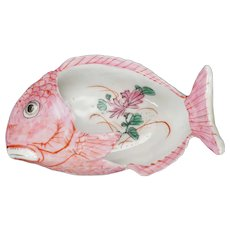 Chinese Export Famille Rose Fish Dish Republic Period