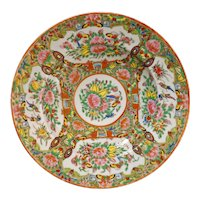 Chinese Rose Medallion Round Bowl Circa 1850