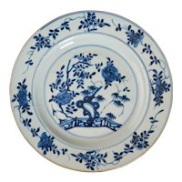 Kangxi Chinese Blue and White Plate Circa 1700