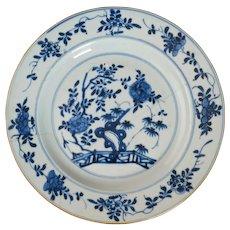 Kangxi Chinese Blue and White Plate Circa 1700