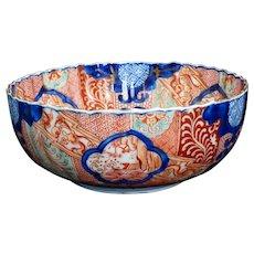 Antique Japanese Edo Imari Fluted Bowl 18th/19th Century