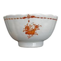 Chinese Export Teacup Iron Red Design 18th Century