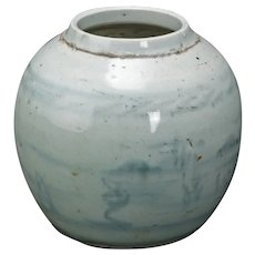 Ming Provincial Chinese Soft Blue Porcelain Ginger Jar