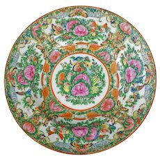 Chinese Rose Medallion Bowl Circa 1920