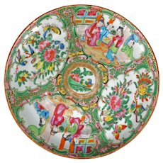 Chinese Rose Medallion Plate Late 19th Century
