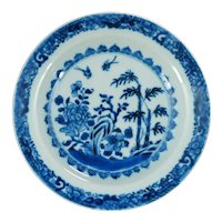 Chinese Qianlong Period Blue and White Dish 18th Century