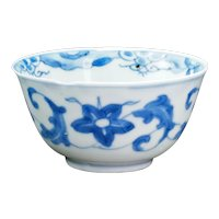 Chinese Kangxi Blue and White Teacup Circa 1700