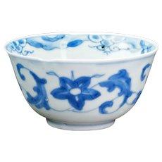Chinese Kangxi Blue and White Teacup Circa 1700