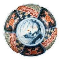Japanese Imari Bowl with Boat Scene 19th Century