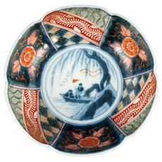 Japanese Imari Bowl with Boat Scene 19th Century