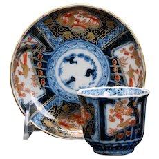 Japanese Imari Teacup and Saucer Meiji 19th Century
