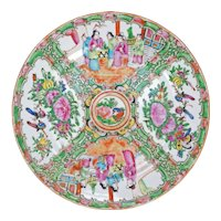 Chinese Rose Medallion Dinner Plate Circa 1930