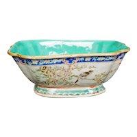 Chinese Porcelain Polychrome Lobed Bowl Tongzhi Mark - 19th Century