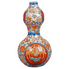 Japanese Colored Imari Sake Bottle Showa Period