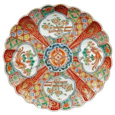 Japanese Imari Plate with Phoenix Meiji Period late 19th Century