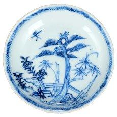 Chinese Kangxi Pine Tree and Bamboo Saucer 18th Century