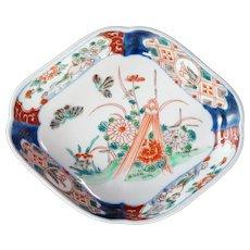 Japanese Colored Imari Diamond Shaped Dish 19th Century