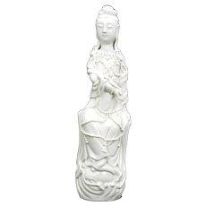 Chinese Blanc De Chine Guanyin Late Qing/Republic
