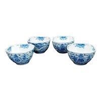 Set of Four Japanese Arita Ware Tea Bowls Early 20th Century