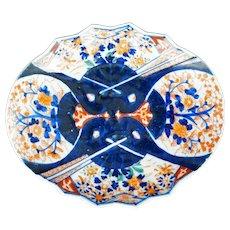 Oval Japanese Imari Fan Dish 19th Century