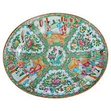 Chinese Rose Medallion Tureen Platter Circa 1850