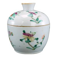 Chinese Polychrome Lidded Food Container Late Qing/Republic