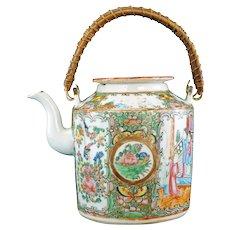 Chinese Rose Medallion Teapot 2nd Half 19 Century