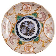 Japanese porcelain 19th century Imari plate with relief painted blossom background