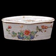 Antique Chinese over glaze enamel porcelain cricket cage 19th century