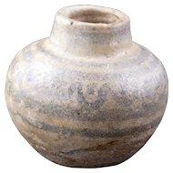 Tiny Ancient Thai Sawankhalok ware medicine or cosmetics ceramic pot 15th or 16th century
