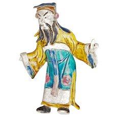Chinese Shiwan Ware Mud Man Figure 19th century