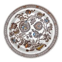 Aesthetic Movement Transferware Plate Jacobean Pattern late 19th century