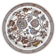 Aesthetic Movement Transferware Plate Jacobean Pattern late 19th century