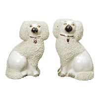 Matched Pair of Vintage English Staffordshire Spaniels