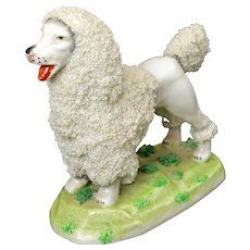 Vintage German Porcelain Poodle Dog - 20th Century