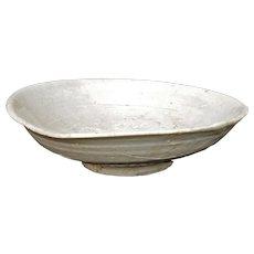 Ancient Korean Koryo Dynasty Ceramic Shallow Bowl 10th/14th Century