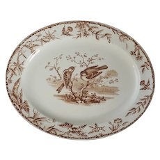 Victorian Transferware Indus Plate by Ridgways Late 19th Century