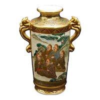 Japanese Satsuma Vase with Immortal Figures Meiji Period