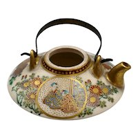 Antique Japanese Satsuma Miniature Teapot Meiji Period
