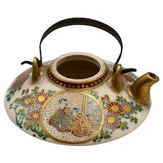 Antique Japanese Satsuma Miniature Teapot Meiji Period